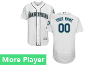 Mens Majestic Seattle Mariners White Flex Base Current Player Jersey