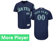 Mens Majestic Seattle Mariners Navy Blue Flex Base Current Player Jersey