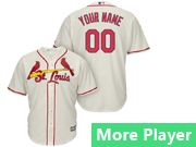 Mens Womens Youth Majestic St. Louis Cardinals Cream Cool Base Current Player Jersey