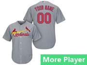 Mens Womens Youth Majestic St. Louis Cardinals Gray Cool Base Current Player Jersey