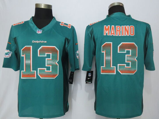 Mens Nfl Miami Dolphins #13 Dan Marino Green Strobe Limited Jersey