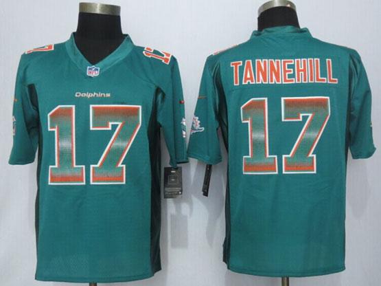 Mens Nfl Miami Dolphins #17 Ryan Tannehill Green Strobe Limited Jersey