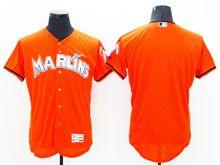 Mens Majestic Miami Marlins Blank Orange Flex Base Jersey
