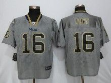 Mens Nfl St.louis Rams #16 Jared Goff Gray Lights Out Elite Jerseys