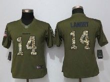 Women  Nfl Miami Dolphins #14 Jarvis Landry Green Salute To Service Limited Jersey