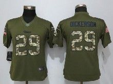 Women  Nfl   St. Louis Rams #29 Eric Dickerson Green Salute To Service Limited Jersey