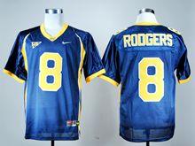 Mens Ncaa Nfl California Golden Bears #8 Aaron Rodgers Navy Blue Jersey