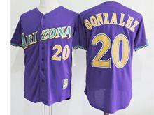 Mens Mlb Arizona Diamondbacks #20 Luis Gonzalez Purple Jersey