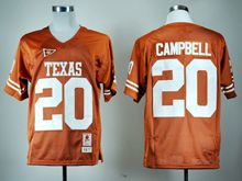 Mens NCAA NFL Texas longhorns #20 Earl Campbell Burnt Orange Throwback JERSEY