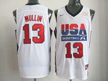 Mens Nba 1 Dream Team #13 Mullin White Mesh Jersey