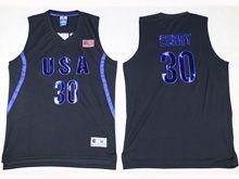 Mens Nba 12 Dream Teams #30 Curry Black Jersey