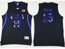 Mens Nba 12 Dream Teams #35 Durant Black Jersey