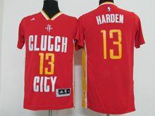 Mens Nba Houston Rockets #13 Harden Red (clutgh City) Jersey