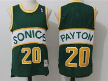 Mens Nba Seattle Supersonics #20 Gary Payton Green Throwbacks  Jersey