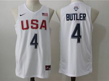 Mens Nba 12 Dream Teams #4 Jimmy Butler White Jersey