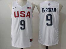 Mens Nba 12 Dream Teams #9 Demar Derozan White Jersey