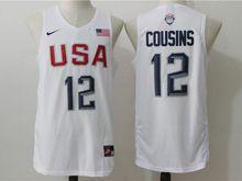 Mens Nba 12 Dream Teams #12 Demarcus Cousins White Jersey