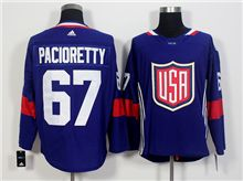 Mens Team Usa #67 Max Pacioretty Blue 2016 World Cup Hockey Jersey