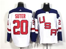 Mens Team Usa #20 Ryan Suter White 2016 World Cup Hockey Jersey