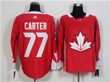 Mens Team Canada #77 Jeff Carter Red 2016 World Cup Hockey Jersey