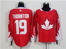Mens Team Canada #19 Joe Thornton Red 2016 World Cup Hockey Jersey
