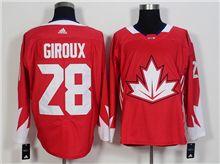 Mens Team Canada #28 Claude Giroux Red 2016 World Cup Hockey Jersey