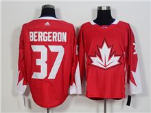 Mens Team Canada #37 Patrice Bergeron Red 2016 World Cup Hockey Jersey