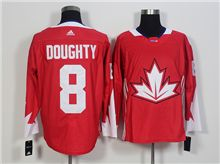 Mens Team Canada #8 Drew Doughty Red 2016 World Cup Hockey Jersey