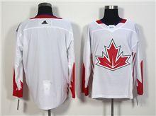Mens Team Canada (custom Made) White 2016 World Cup Hockey Jersey
