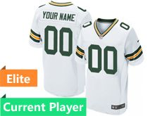 Mens Green Bay Packers White Elite Current Player Jersey