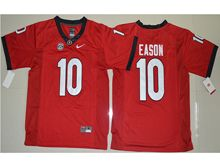 Mens Ncaa Nfl Georgia Bulldogs #10 Jacob Eason Red Limited Jersey
