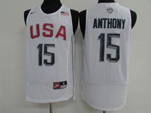 Mens Nba 12 Dream Teams #15 Carmelo Anthony White Jersey
