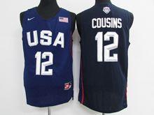 Mens Nba 12 Dream Teams #12 Demarcus Cousins Blue Jersey