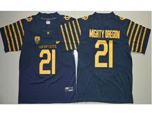 Mens Ncaa Nfl Oregon Ducks #21 Royce Freeman Navy Blue Weebfoot 100th Rose Bowl Game Elite Jersey