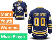 Mens Women Youth Reebok Buffalo Sabres Blue Home Premier Current Player Jersey