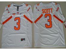 Mens Ncaa Nfl Clemson Tigers #3 Artavis Scott White Limited Jersey