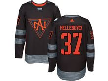 Mens Team North America #37 Connor Hellebuyck Black 2016 World Cup Hockey Jersey