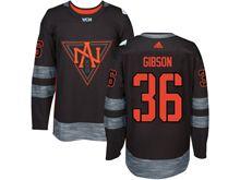 Mens Team North America #36 John Gibson Black 2016 World Cup Hockey Jersey