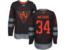 Mens Team North America #34 Auston Matthews Black 2016 World Cup Hockey Jersey