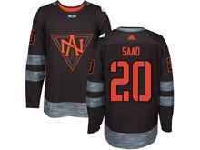 Mens Team North America #20 Brandon Saad Black 2016 World Cup Hockey Jersey