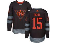 Mens Team North America #15 Jack Eichel Black 2016 World Cup Hockey Jersey