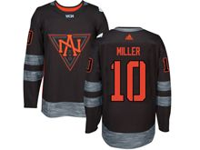 Mens Team North America #10 J. T. Miller Black 2016 World Cup Hockey Jersey