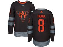 Mens Team North America #8 Jacob Trouba Black 2016 World Cup Hockey Jersey