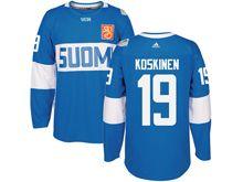 Mens Nhl Team Finland #19 Mikko Koskinen Blue 2016 World Cup Hockey Jersey
