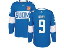 Mens Nhl Team Finland #9 Mikko Koivu Blue 2016 World Cup Hockey Jersey