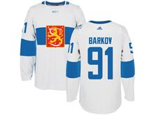 Mens Nhl Team Finland #91 Aleksander Barkov Jr. White 2016 World Cup Hockey Jersey