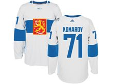 Mens Nhl Team Finland #71 Leo Komarov White 2016 World Cup Hockey Jersey