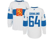 Mens Nhl Team Finland #64 Mikael Granlund White 2016 World Cup Hockey Jersey