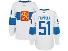 Mens Nhl Team Finland #51 Valtteri Filppula White 2016 World Cup Hockey Jersey
