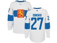 Mens Nhl Team Finland #27 Joonas Donskoi White 2016 World Cup Hockey Jersey